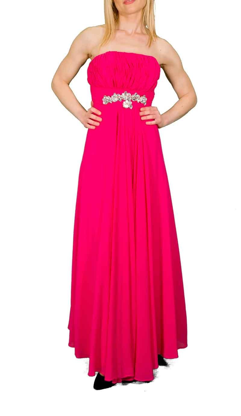 Strapless αεράτο φόρεμα
