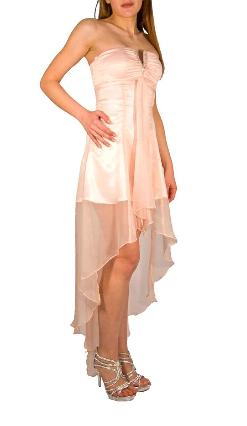 Chiffon φόρεμα με ουρά