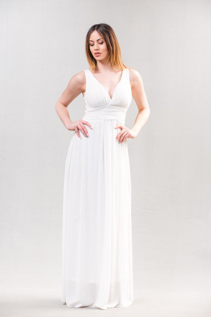 Μακρύ φόρεμα με V